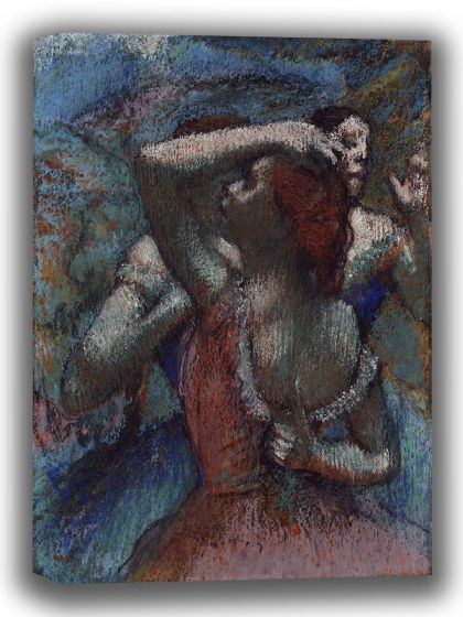 Degas, Edgar: Dancers. Fine Art Canvas. Sizes: A4/A3/A2/A1 (003743)